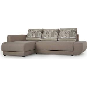 Диван угловой SettySet Нью Йорк левый светло-серый диван угловой settyset нью йорк левый коричневый