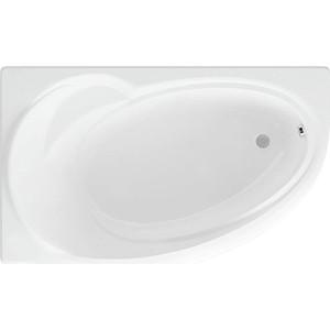 Акриловая ванна Акватек Бетта 150х95 левая, фронтальная панель, каркас, слив-перелив (BET150-0000067)