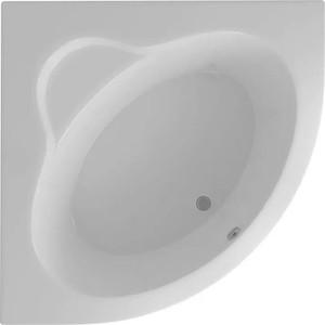 Акриловая ванна Акватек Калипсо 146х146 см фронтальная панель, каркас, слив-перелив (KAL146-0000045)