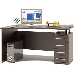 Стол компьютерный СОКОЛ КСТ-104.1 венге правый сокол мебель кст 105 венге
