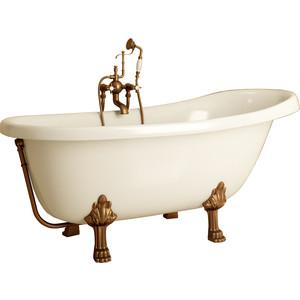 Ванна из литого мрамора Фэма Стиль Салерно 170х83 см лапы бронза ванна из литого мрамора фэма стиль салерно 170х83 см лапы хром
