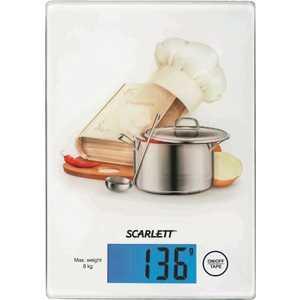 Весы кухонные Scarlett SC-1217 поваренок, белый весы кухонные scarlett sc ks57b10 белый