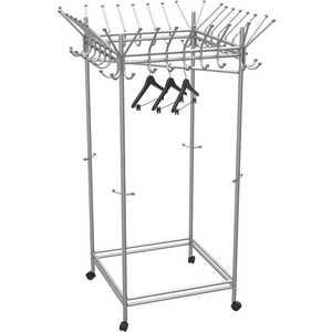Вешалка гардеробная на колесах Мебелик Пико 23 металлик