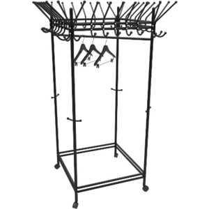 Вешалка гардеробная на колесах Мебелик Пико 23 черный
