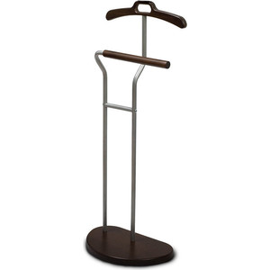 цена Вешалка костюмная Мебелик Д 10 металлик/темно-коричневый онлайн в 2017 году