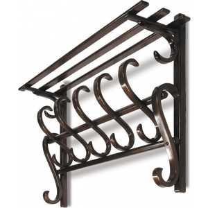 Вешалка настенная Мебелик В 7Н средне-коричневый