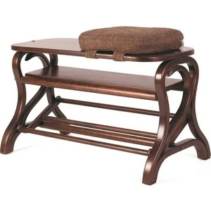 Обувница Мебелик Диана средне-коричневый