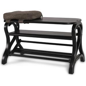 Обувница Мебелик Диана темно-коричневый