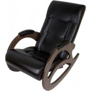 Кресло-качалка Мебелик Тенария 1 эко-кожа венге