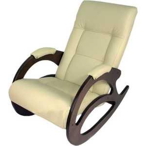 Кресло-качалка Мебелик Тенария 1 эко-кожа слоновая кость стол журнальный мебелик сакура 1 эко кожа слоновая кость