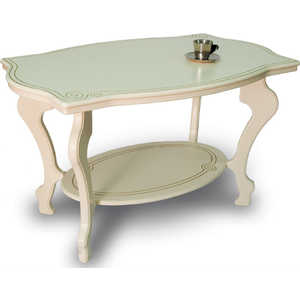 Стол журнальный Мебелик Берже 1 слоновая кость стол журнальный мебелик берже 1 белый ясень