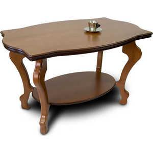 Стол журнальный Мебелик Берже 1 средне-коричневый стол журнальный мебелик берже 1 белый ясень