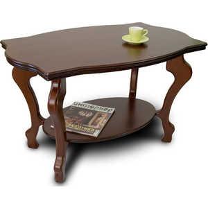 Стол журнальный Мебелик Берже 1 тёмно-коричневый стол журнальный мебелик берже 1 белый ясень