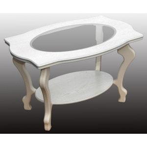 купить Стол журнальный Мебелик Берже 1С белый ясень по цене 10970 рублей