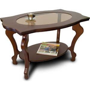 купить Стол журнальный Мебелик Берже 1С тёмно-коричневый по цене 9190 рублей