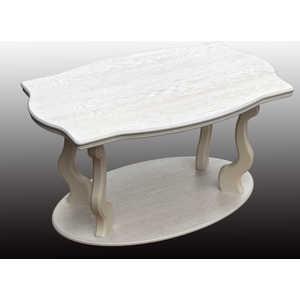 купить Стол журнальный Мебелик Берже 3 белый ясень по цене 10470 рублей