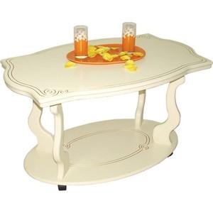 все цены на Стол журнальный Мебелик Берже 3 слоновая кость онлайн