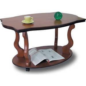 Стол журнальный Мебелик Берже 3 средне-коричневый стол журнальный мебелик берже 1 белый ясень