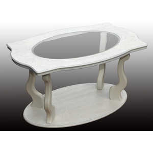купить Стол журнальный Мебелик Берже 3С белый ясень по цене 7618.5 рублей
