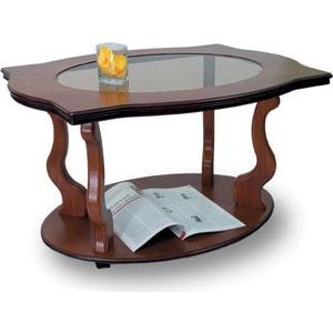 купить Стол журнальный Мебелик Берже 3С средне-коричневый по цене 9570 рублей