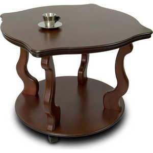 Стол журнальный Мебелик Берже 4 тёмно-коричневый стол журнальный мебелик берже 1 белый ясень