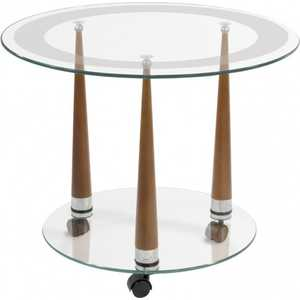 Стол журнальный Мебелик Квартет 13 средне-коричневый/прозрачное стол журнальный мебелик квартет 13 средне коричневый прозрачное