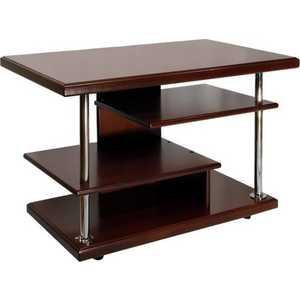Стол журнальный Мебелик Комфорт 3 орех средне-коричневый стол журнальный мебелик квартет 13 средне коричневый прозрачное