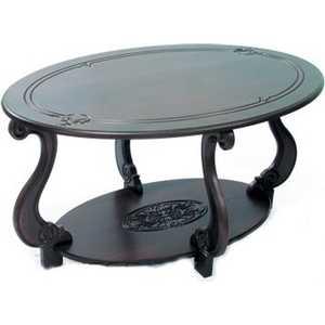 Стол журнальный Мебелик Овация (М) тёмно-коричневый