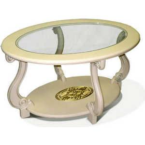 все цены на Стол журнальный Мебелик Овация (С) слоновая кость онлайн