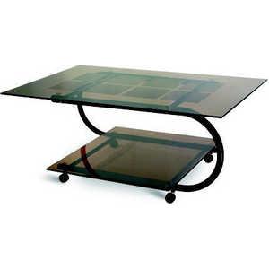 Стол журнальный Мебелик Дуэт 10 чёрный/тонированное