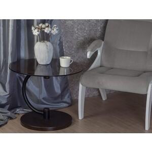 Стол журнальный Мебелик Дуэт 13Н черный/венге/тонированное мебелик стол журнальный рио 3 венге