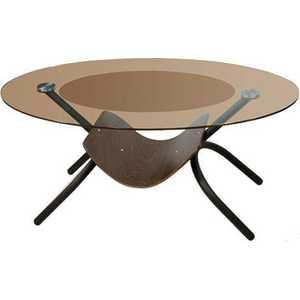 Стол журнальный Мебелик Дуэт 2 чёрный/тонированное стол журнальный мебелик сакура 3 эко кожа венге