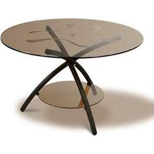 купить Стол журнальный Мебелик Дуэт 3 чёрный/тонированное по цене 8240 рублей