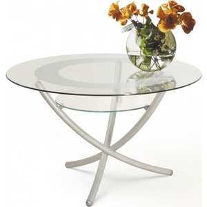 Стол журнальный Мебелик Дуэт 4 металлик/прозрачное стол журнальный мебелик сакура 3 эко кожа венге