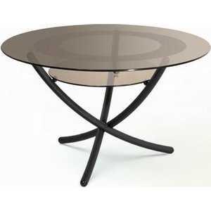 купить Стол журнальный Мебелик Дуэт 4 чёрный/тонированное по цене 8720 рублей