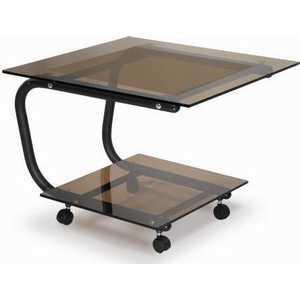 купить Стол журнальный Мебелик Дуэт 9 чёрный/тонированное по цене 7430 рублей