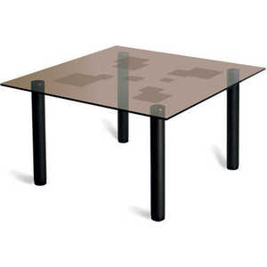 Стол журнальный Мебелик Робер 2М чёрный/тонированное стол журнальный мебелик сакура 3 эко кожа венге