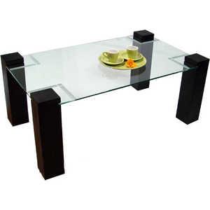 Стол журнальный Мебелик Приз 2Н венге прозрачное без иероглифа