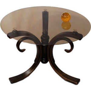 Стол журнальный Мебелик Лорд тёмно-коричневый/тонированное стол журнальный мебелик квартет 4м