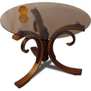 Стол журнальный Мебелик Миледи средне-коричневый стол журнальный мебелик квартет 13 средне коричневый прозрачное