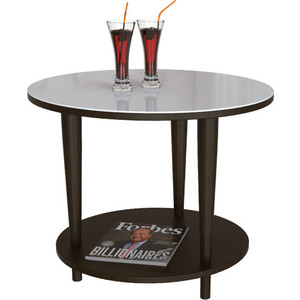 Стол журнальный Мебелик BeautyStyle 10 венге/стекло белое стол журнальный мебелик beautystyle 3 венге стекло черное