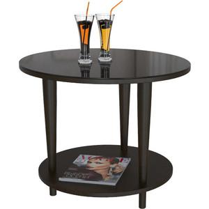 Стол журнальный Мебелик BeautyStyle 10 венге/стекло черное шатура mayer 8 венге стекло черное
