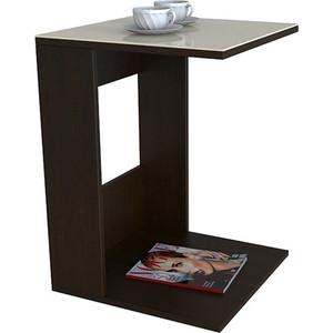 Стол журнальный Мебелик BeautyStyle 3 венге/стекло бежевое мебелик стол журнальный рио 3 венге