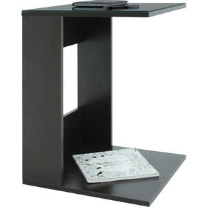 Стол журнальный Мебелик BeautyStyle 3 венге/стекло черное шатура mayer 8 венге стекло черное