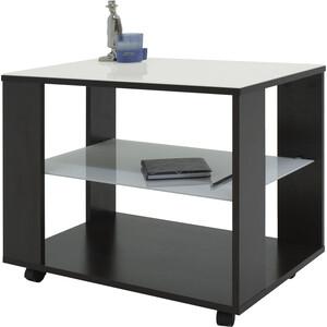 купить Стол журнальный Мебелик BeautyStyle 5 венге/стекло белое по цене 5850 рублей