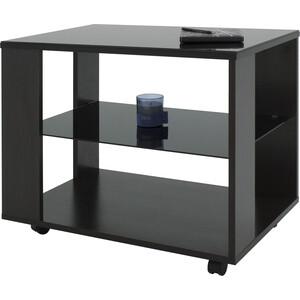 купить Стол журнальный Мебелик BeautyStyle 5 венге/стекло черное по цене 5850 рублей
