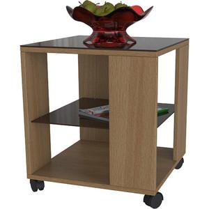 Стол журнальный Мебелик BeautyStyle 6 бук/стекло темнокоричневое