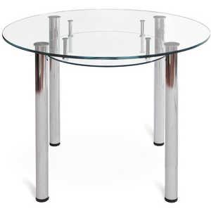 Стол обеденный Мебелик Робер 13МП хром - без рисунка