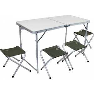 Набор мебели TREK PLANET T (стол + 4 стула) TA-21407+FS-21124 набор мебели trek planet event set 95 стол и 4 стула 70667