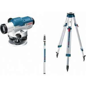 Нивелир оптический Bosch GOL 20 + штатив BT160 рейка GR500 (0.601.068.402)